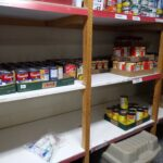 Food Bank Shelves Getting Low
