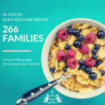 August Food Bank Stats